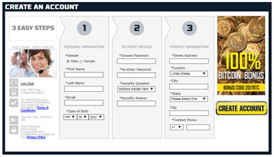 5Dimes Sportsbook Registration Image